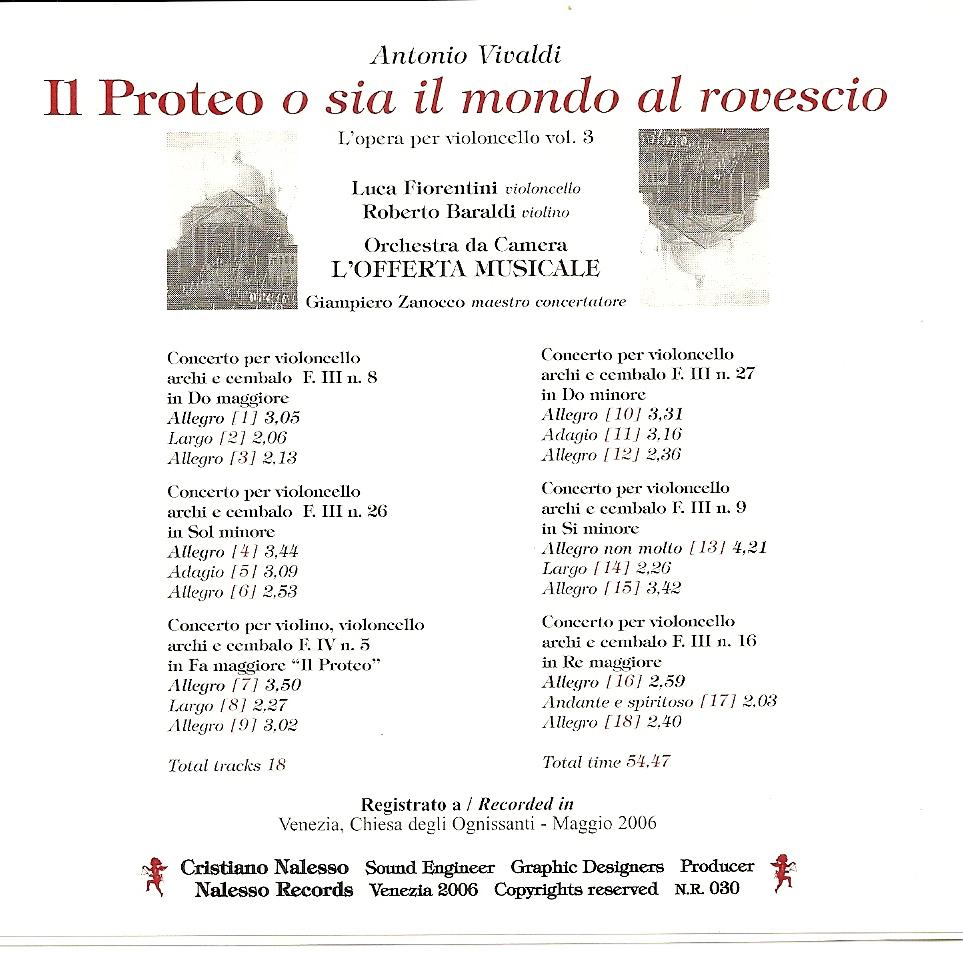 Il Proteo ovvero il mondo alla rovescia Antonio Vivaldi