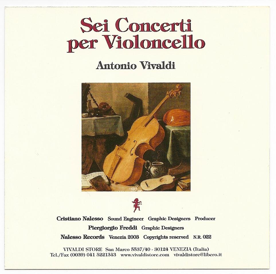 Sechs Konzerte für Cello - Antonio Vivaldi