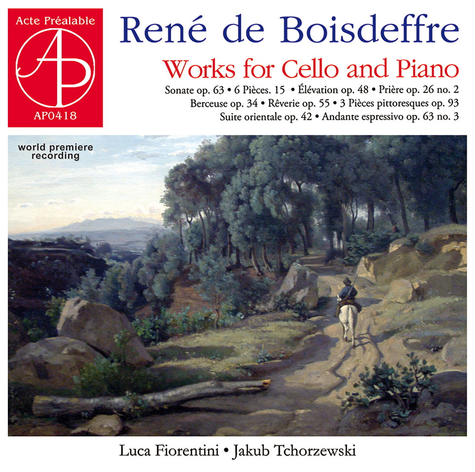 Rene de Boisdeffre - Works for Cello and Piano